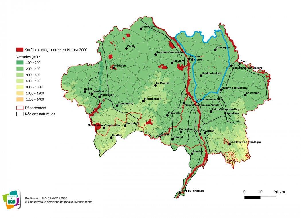 Cartographie de la Sologne bourbonnaise