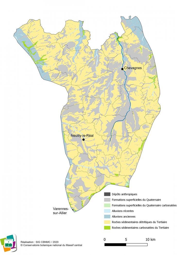 Géologie de la Sologne bourbonnaise