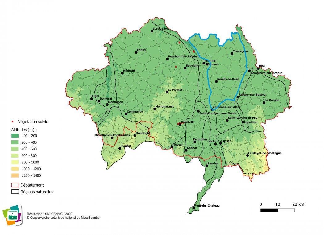 Suivi de végétations et d'habitats de la Sologne bourbonnaise