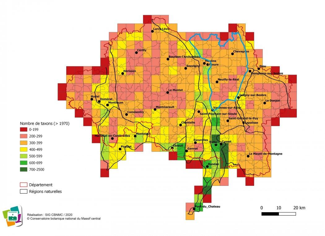 Diversité taxonomique de la Sologne bourbonnaise