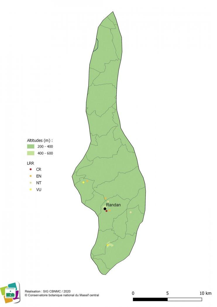 Taxons menacés de la Forêt et bocage du Val d'Allier vichyssois