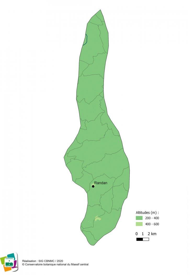 Cartographie de la Forêt et bocage du Val d'Allier vichyssois
