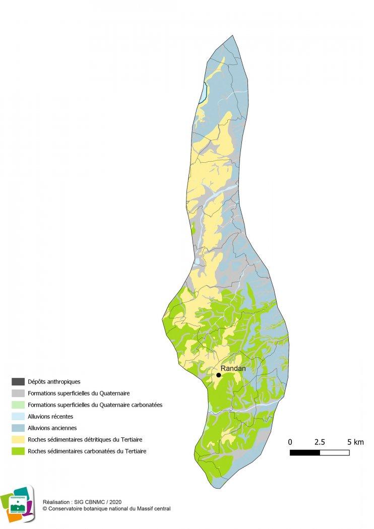 Géologie de la Forêt et bocage du Val d'Allier vichyssois