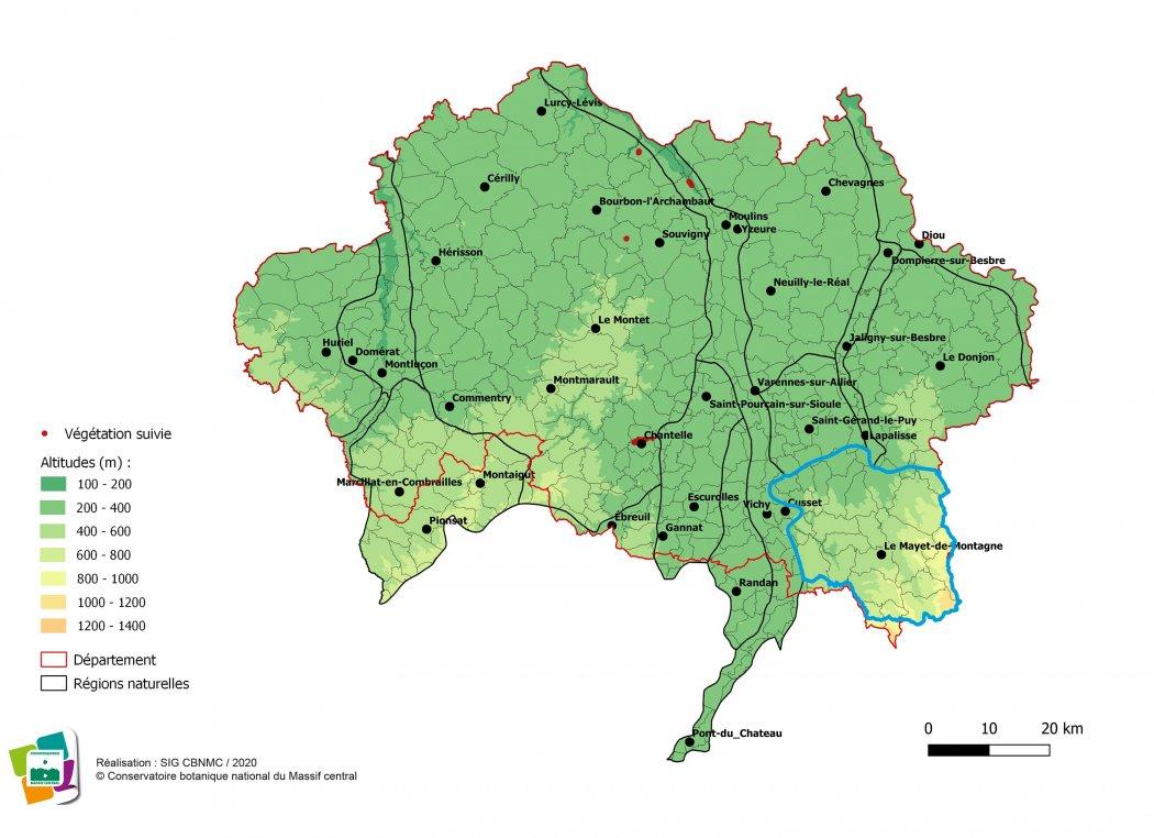 Suivi de végétations et d'habitats de la Montagne bourbonnaise