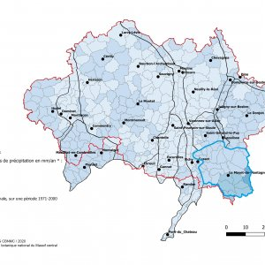 Pluviométrie de la Montagne bourbonnaise